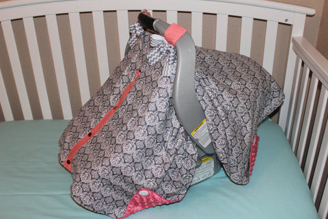 Gray Damask Canopy Carrier Cover