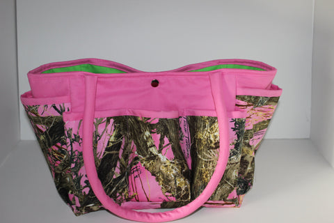 Pink True Timber  Multi-Pocket Diaper Bag