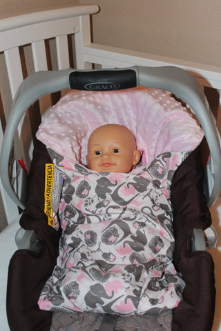 Pink Jungle Animals Heavy Weight Swaddler