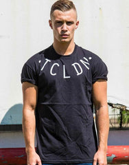 Chest piece icon print crew neck t-shirt