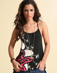 Ringspun Bird Print Racer Back Vest Top
