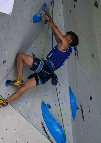 Ben climbing - 2nd qualifier