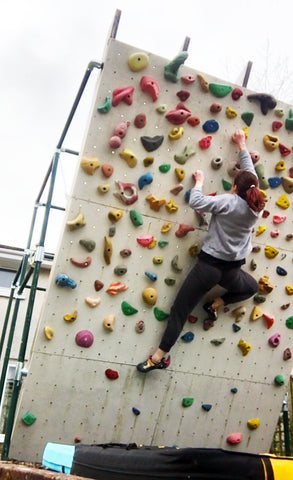 homemade climbing wall
