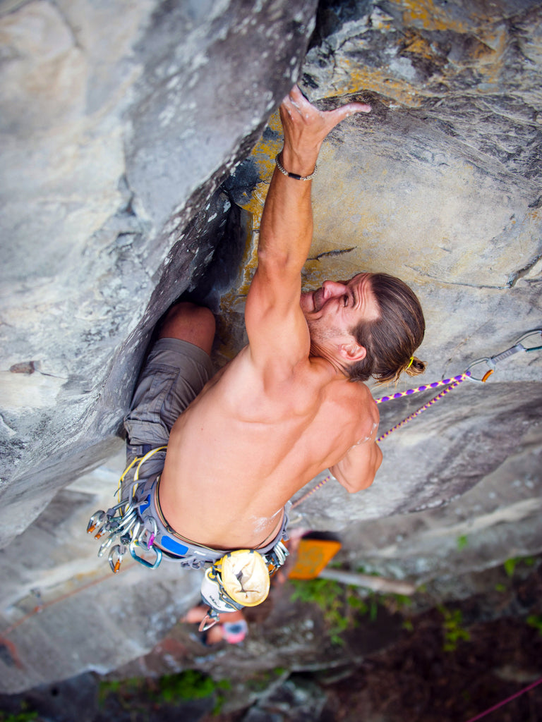 HoldBreaker- man climbing outdoors