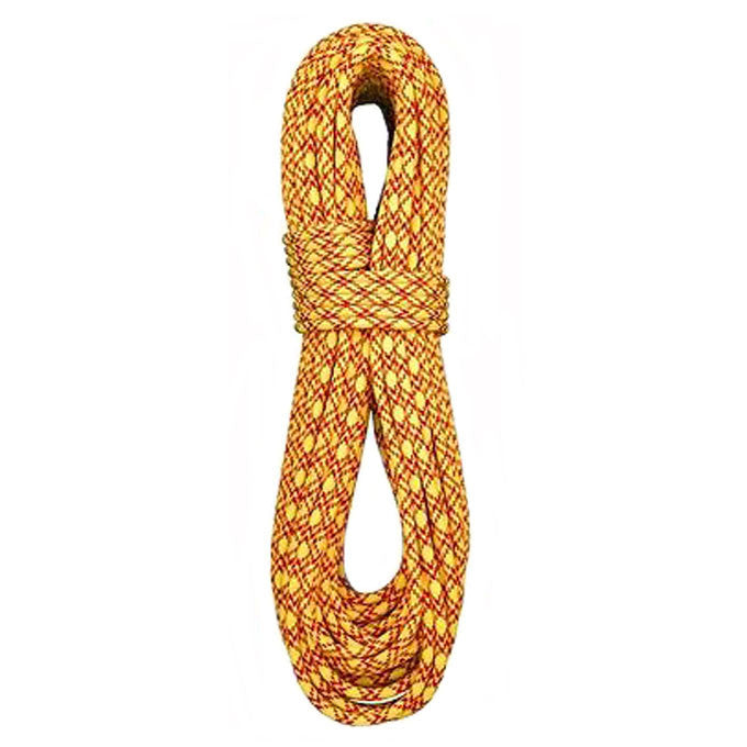 7.7mm Ice Floss Twin Dynamic Double-Dry 60m, BlueWater Ropes - Yellow/Red - Ropes - HoldBreaker - 1