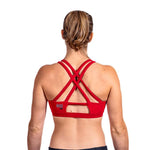 Red HoldBreaker X Climbing Sports bra - back