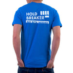 mens light blue climbing tshirt back
