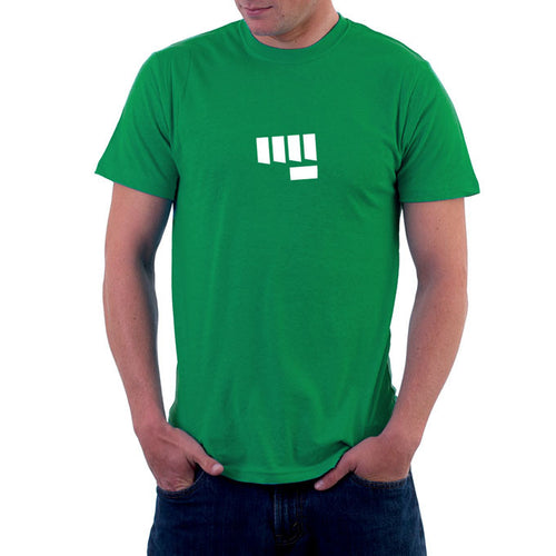 Fist Bump Mens Tshirt Green