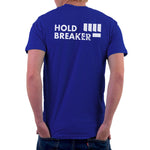 mens blue climbing tshirt back