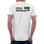 mens white climbing tshirt back