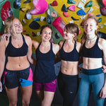 HoldBreaker X - Black rock climbing tank top with built in sports bra for indoor bouldering and sport climbing
