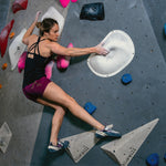 HoldBreaker X - Black rock climbing tank top with built in sports bra - for indoor bouldering