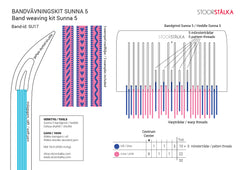 Band weaving kit Sunna 5 Pink-blue