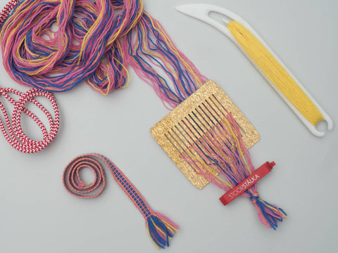 Band weaving kit Small Pink