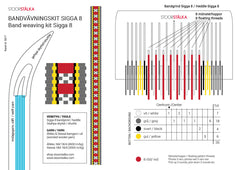 Band weaving kit Sigga 8 Red