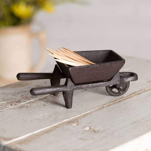 Cast Iron Small Wheelbarrow Caddy - Galena River Wine and Cheese