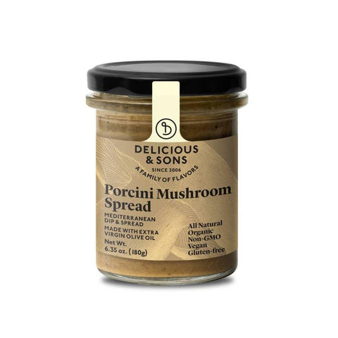 Delicious & Sons Organic Porcini Mushroom Spread 6.35oz-Galena River Wine and Cheese