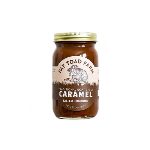 Fat Toad Farm Goat Milk Salted Bourbon Caramel 6oz - Galena River Wine and Cheese