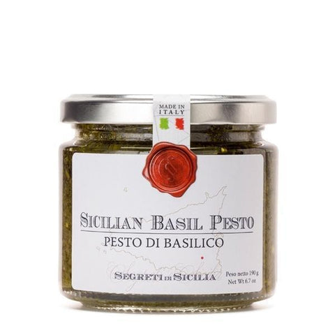 Frantoi Cutrera Sicilian Basil Pesto 6.7oz - Galena River Wine and Cheese