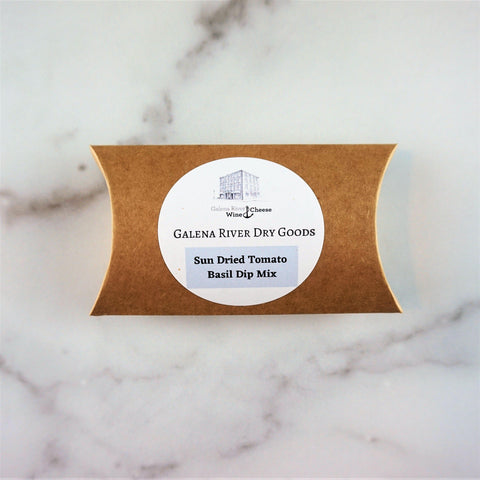 Galena River Dry Goods Sun Dried Tomato Basil Dip Mix-Galena River Wine and Cheese