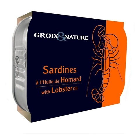 Groix et Nature Sardines in Lobster Oil 4oz - Galena River Wine and Cheese