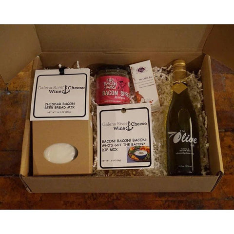 GRWC Bacon Lover's Gift Box - Galena River Wine and Cheese