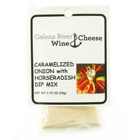 GRWC Caramelized Onion w Horseradish Dip Mix 2.75oz - Galena River Wine and Cheese