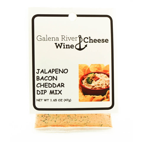 GRWC Jalapeno Bacon Cheddar Dip Mix 1.65oz - Galena River Wine and Cheese