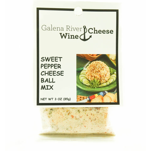 GRWC Sweet Pepper Cheese Ball Mix - Galena River Wine and Cheese