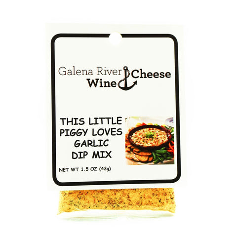 GRWC This Little Piggy Loves Garlic Dip Mix 1.5 - Galena River Wine and Cheese
