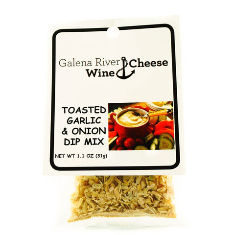 GRWC Toasted Garlic & Onion Dip Mix 1.1oz-Galena River Wine and Cheese