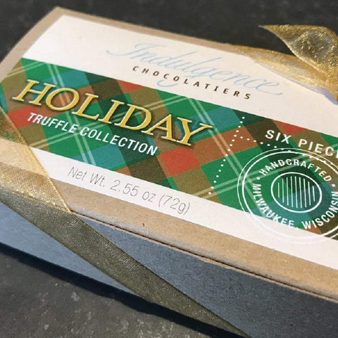 Indulgence Chocolatiers Holiday Truffle 6 piece - Galena River Wine and Cheese