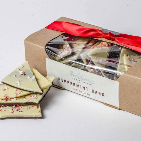 Indulgence Chocolatiers Peppermint Bark 8oz - Galena River Wine and Cheese