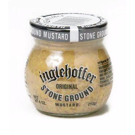 Inglehoffer Stone Ground Mustard 4oz - Galena River Wine and Cheese