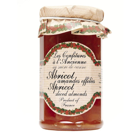 Les Confitures a l'Ancienne Apricot & Sliced Almond Jam 9.52oz - Galena River Wine and Cheese