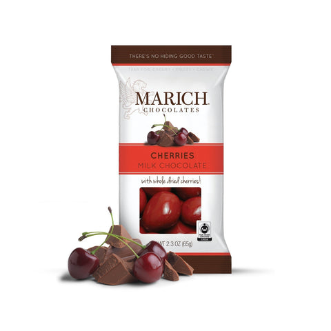 Marich Milk Chocolate Cherries 2.3oz - Galena River Wine and Cheese
