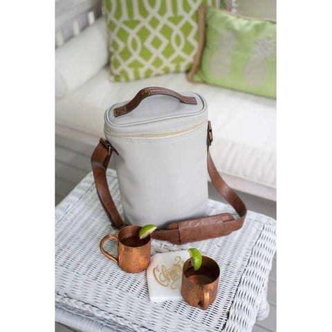 mb greene Insulated Tote in Pebble Grain-Galena River Wine and Cheese
