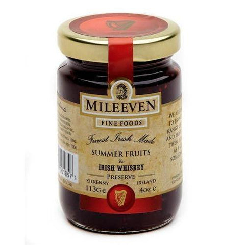 Mileeven Summer Fruit and Irish Whiskey Preserve 4oz - Galena River Wine and Cheese