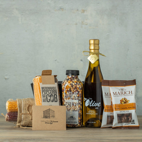 Popcorn Lover's Gift Box-Galena River Wine and Cheese