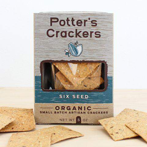 Potter's Crackers Six Seed 5oz - Galena River Wine and Cheese
