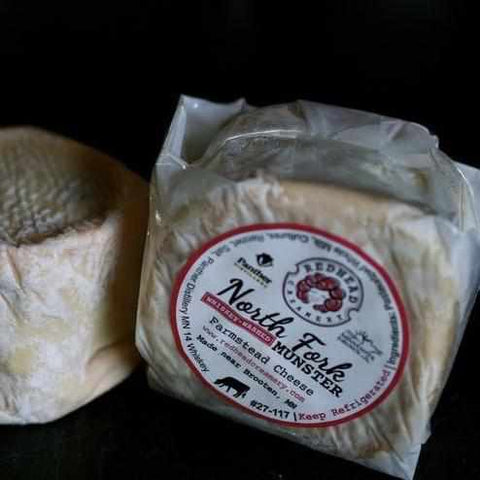 Redhead Creamery North Fork Whiskey Washed Munster ~ 6oz wheel - Galena River Wine and Cheese