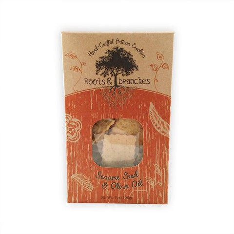 Roots & Branches Sesame Seed & Olive Oil Crackers 7oz-Galena River Wine and Cheese
