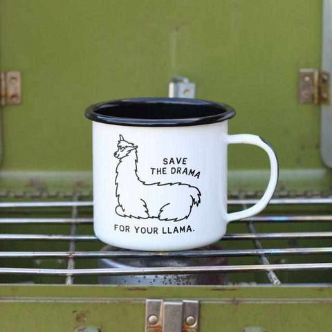 Save the Drama for your Llama Mug-Galena River Wine and Cheese