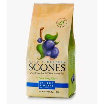 Sticky Fingers Blueberry Scones 15 oz-Galena River Wine and Cheese