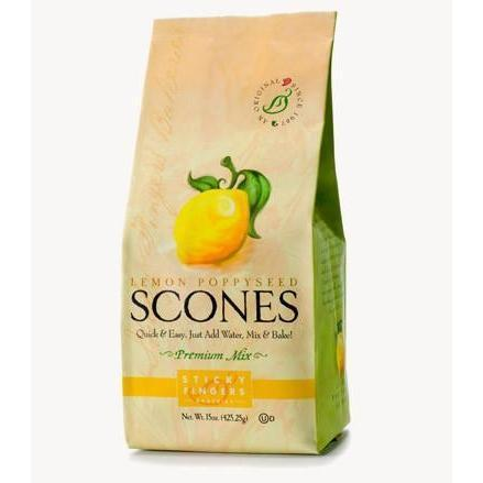 Sticky Fingers Lemon Poppyseed Scones-Galena River Wine and Cheese