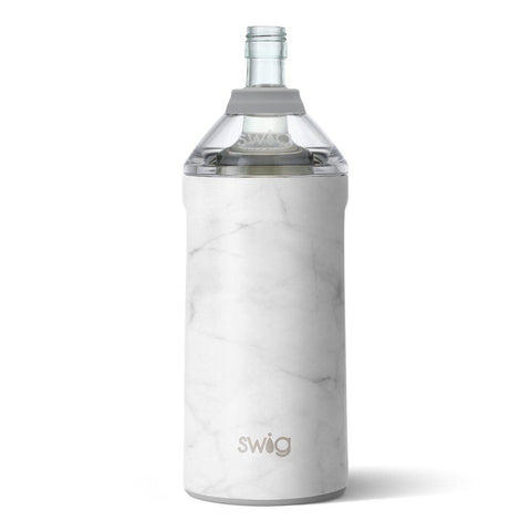 Swig Life Matte Marble Wine Insulator-Galena River Wine and Cheese