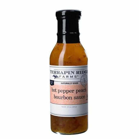 Terrapin Ridge Hot Pepper Peach Bourbon Sauce 12oz-Galena River Wine and Cheese