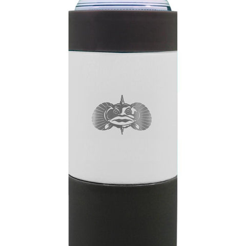 Toadfish Non-Tipping 16oz Can Cooler White-Galena River Wine and Cheese