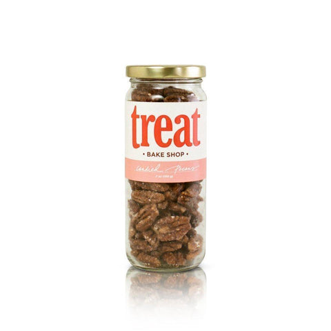 Treat Bake Candied Pecans 7oz Jar-Galena River Wine and Cheese