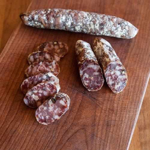 Underground Meats Black Garlic Salami 2oz - Galena River Wine and Cheese